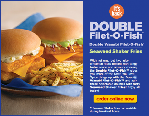 Mcdonald 39 s around the world double wasabi filet o fish for Filet of fish