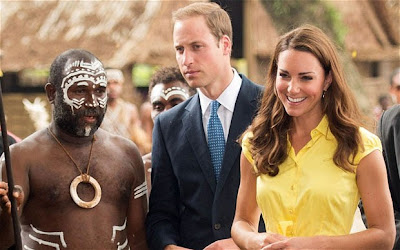 Duke and Duchess of Cambridge in Solomon Island