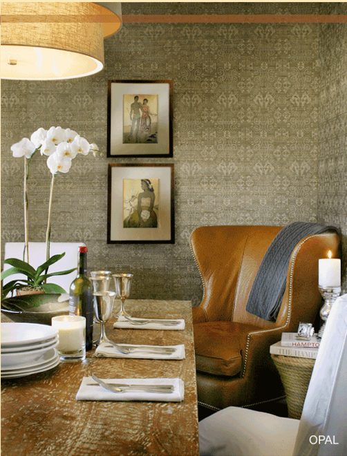 Modern grasscloth wallpaper for Modern wallpaper designs for dining room
