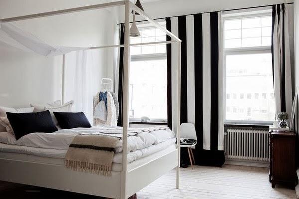 Okissia cortinas de rayas blancas y negra como - Cortinas en blanco y negro ...