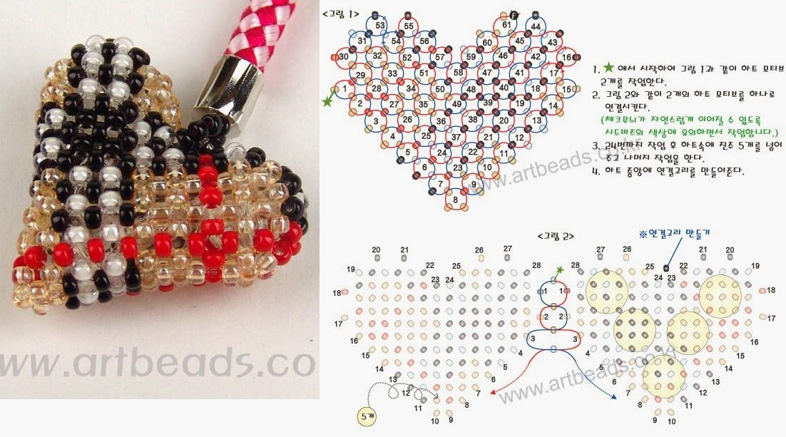 Подарки из бисера со схемами
