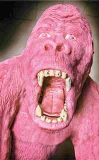 gum sculpture gorilla