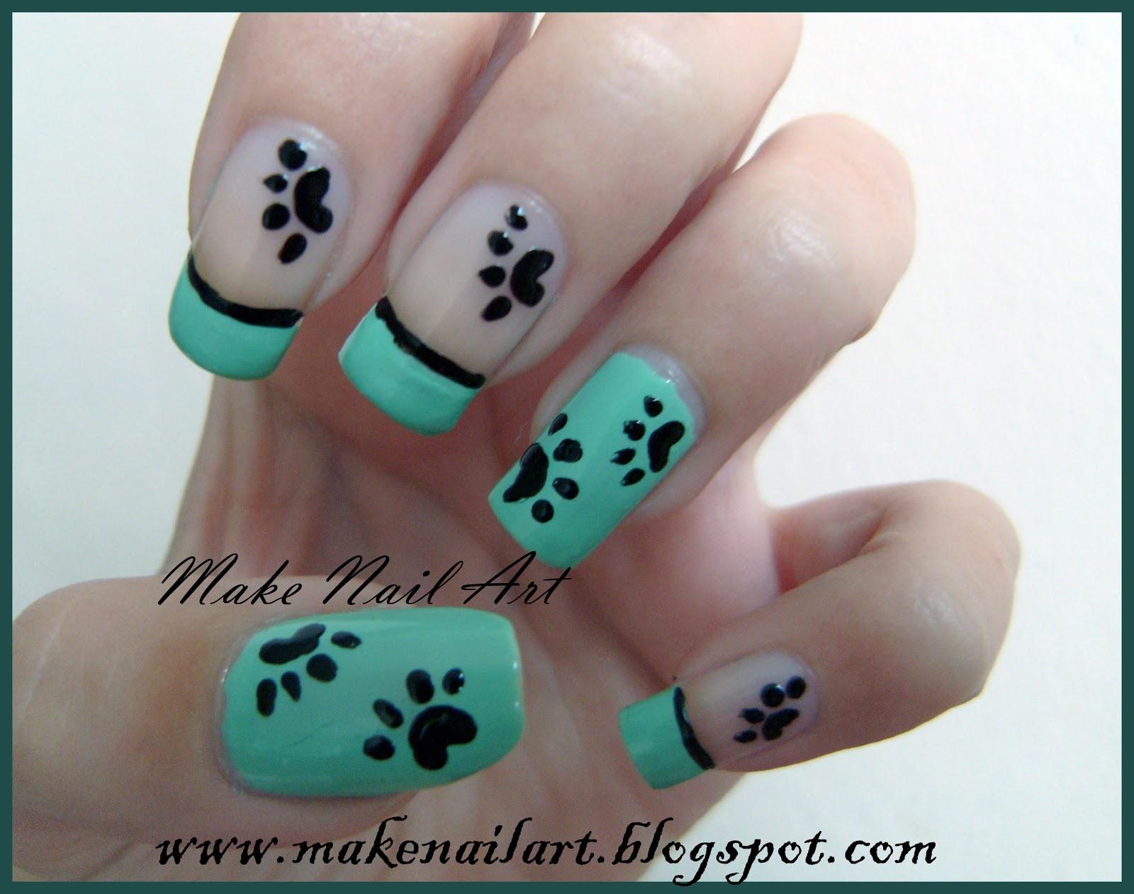 Make nail art simple and cute paws nail art tutorial simple and cute paws nail art tutorial prinsesfo Image collections