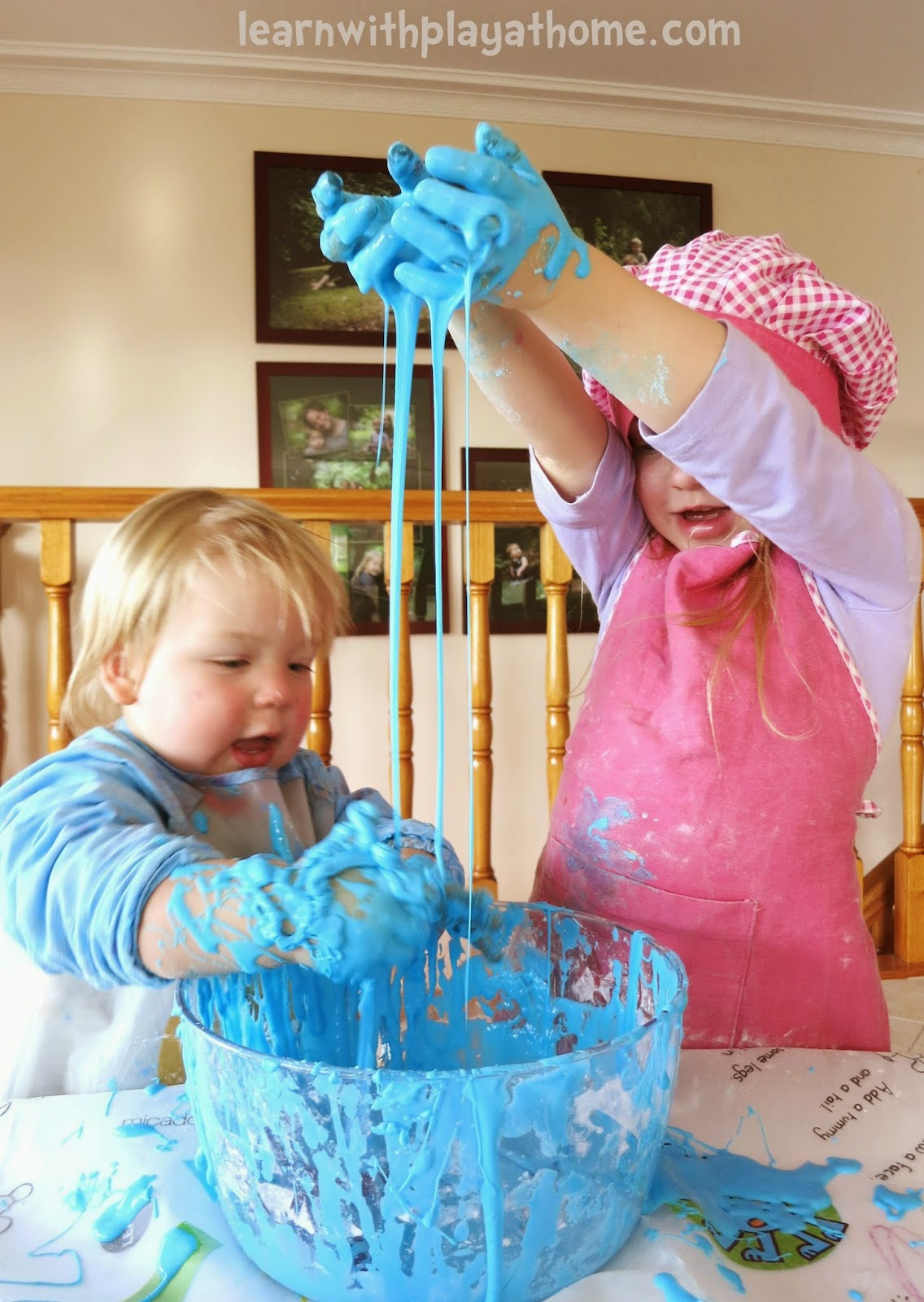 how to make slime with dishwashing liquid and flour
