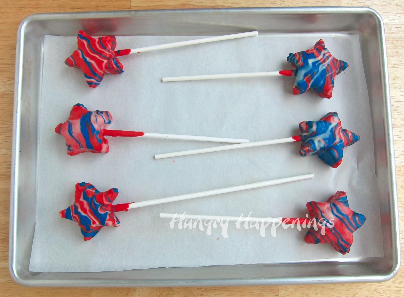 Home handmade candies chocolate dipped rice krispy treats 2 - When You Are Finished Dipping You Ll Have A Bowl Filled With Red White And Blue Dribbles Melt It Stir It And You Ll Have Some Purple Candy Coating To