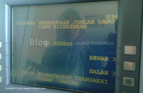 Gambar Konfirmasi Jumlah Uang ATM BCA