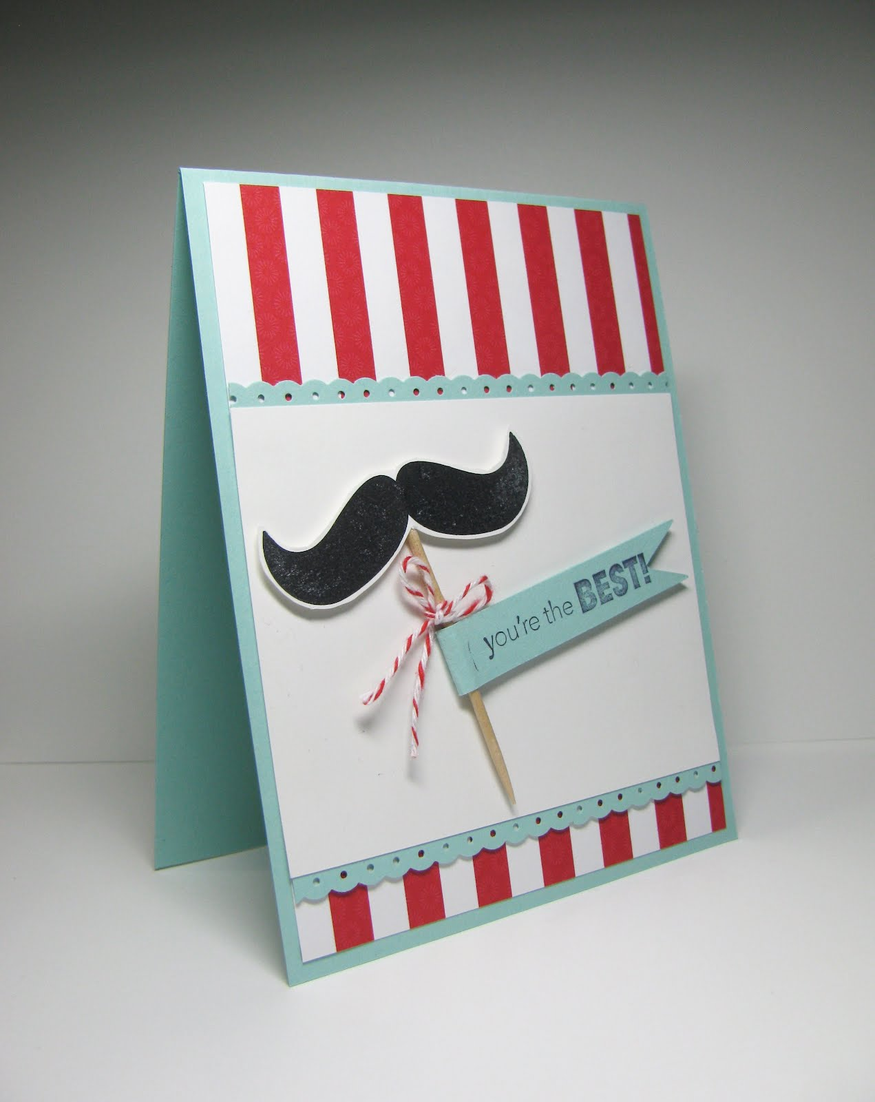 Nice People Stamp Stampin Up Canada Moustache Thank You Card