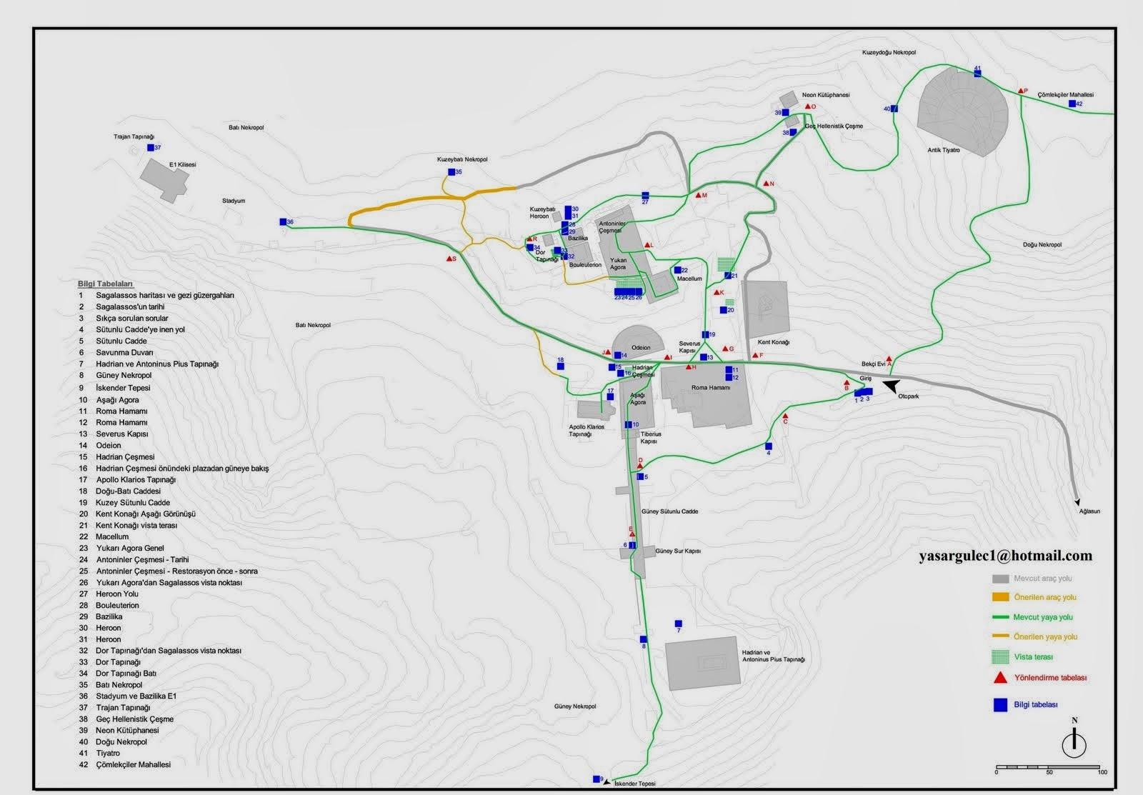 Sagalassos Haritası