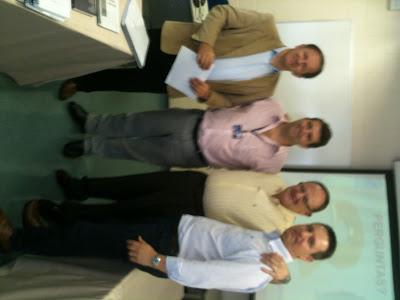 Banca Examinadora: Prof. Dr. De Sordi, Prof. Dr. Alberto Claro (orientador), Jos Massaroppe (candidato/mestre), Prof. Dr. Venelli