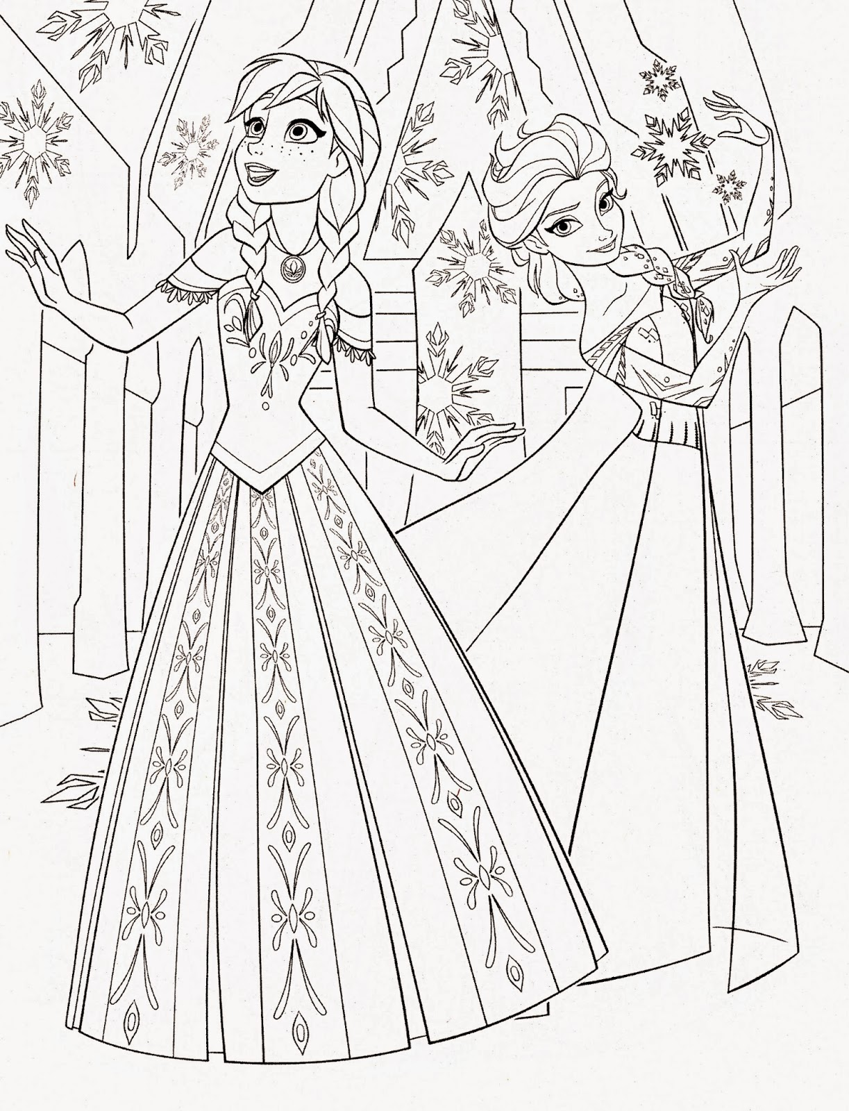 Disney Princess Frozen Elsa And Anna Coloring Pages Disney Princess Coloring Pages Frozen Free Coloring Sheets