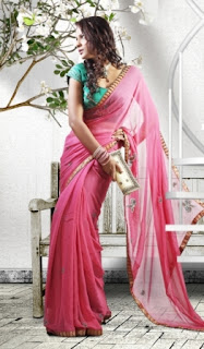 Pink-Designer-Wear-Saree
