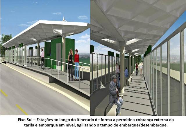 Serão 15 estações de integração do VLP Gama/Santa Maria - Plano Piloto