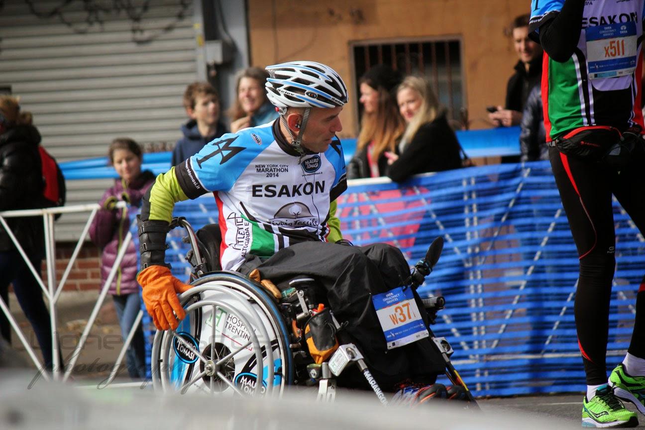 El Maratón de la Ciudad de Nueva York  sillas de ruedas