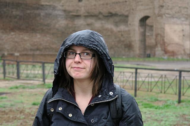 Posing outside Caracalla Baths