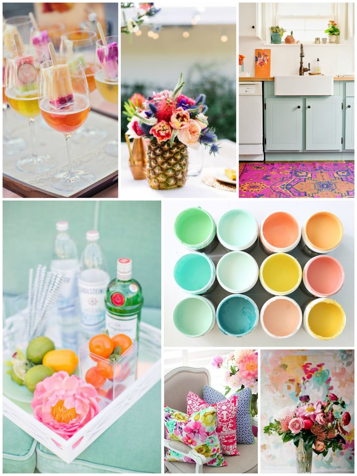 spring color mood board