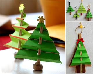 елка-кораблик бумага