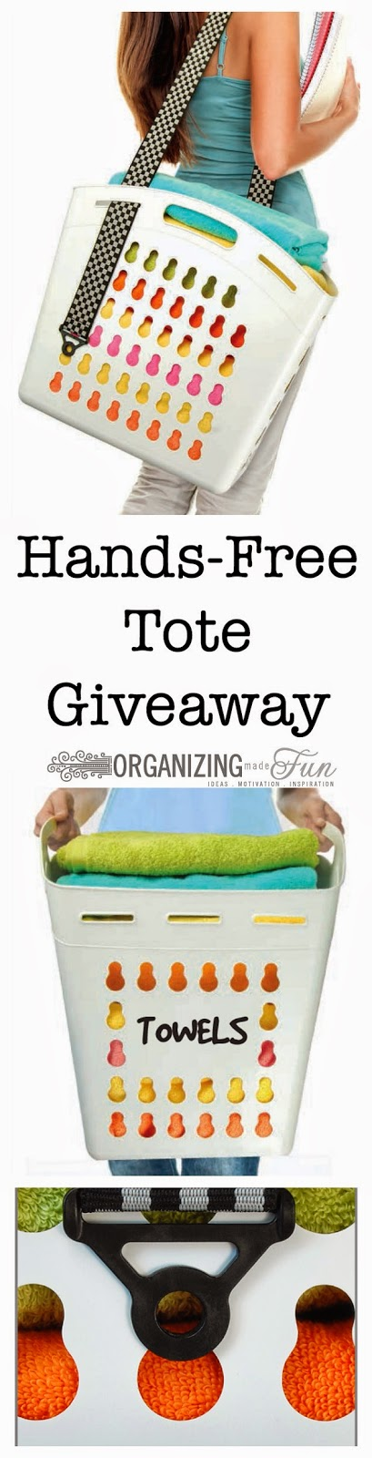 Hands Free Tote Giveaway :: OrganizingMadeFun.com