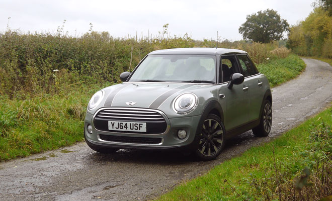 Mini Cooper D five-door front view