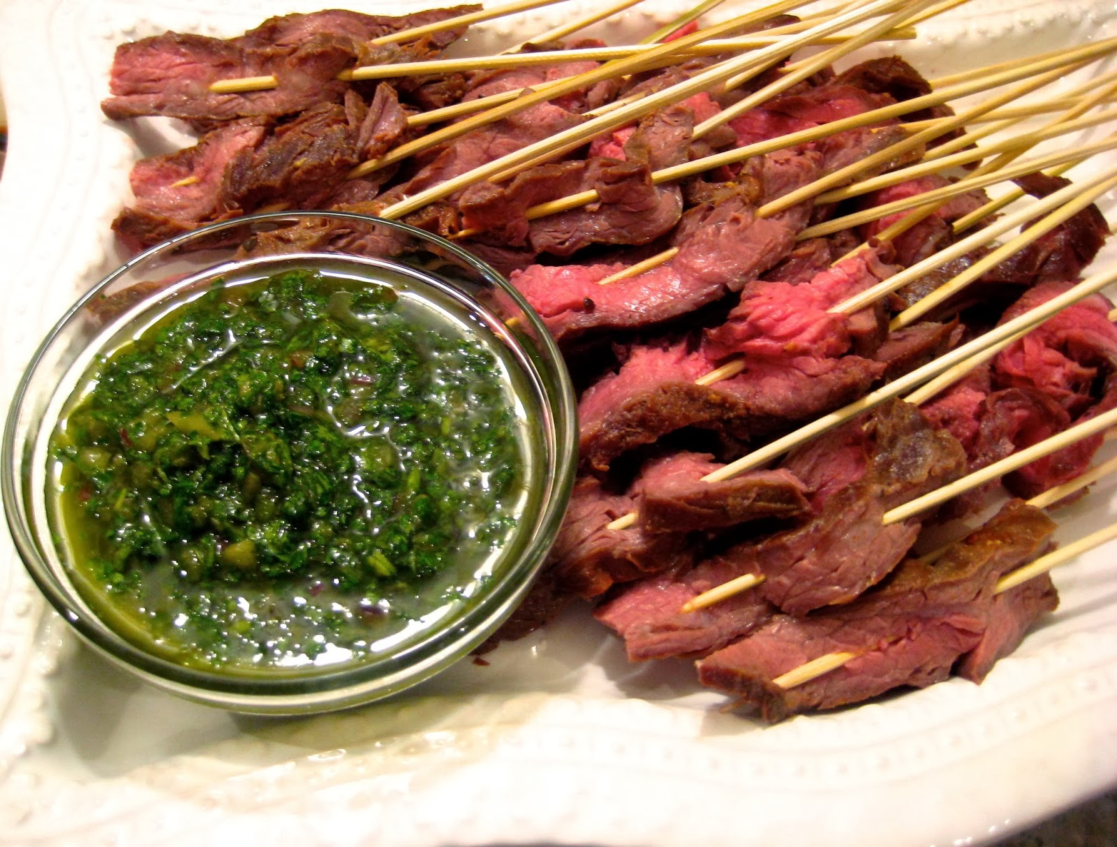 Jackson and Laguna: Flank Steak with Chimichurri Sauce