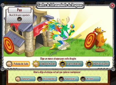 imagen de los ataques del dragon legendario