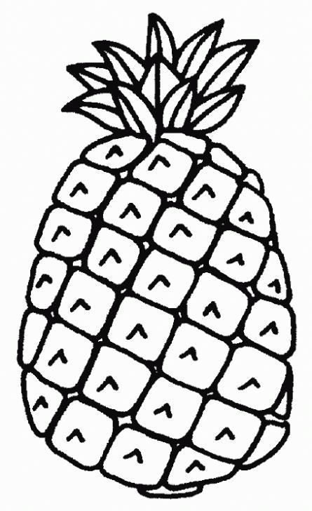 Frutas para colorear piña - Imagui