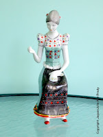 Hollohaza Hungarian Porcelain 1831 Seamstress