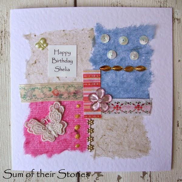 Stash busting greeting card