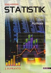 toko buku rahma: buku STATISTIK TEORI DAN APLIKASI EDISI KEENAM JILID 1, pengarang supranto, penerbit erlangga