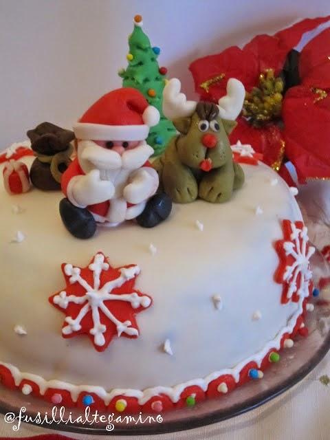 Torta Babbo Natale e Renna in pdz
