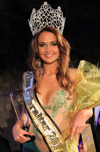 Miss Gibraltar 2012 winner Jessica Baldachino