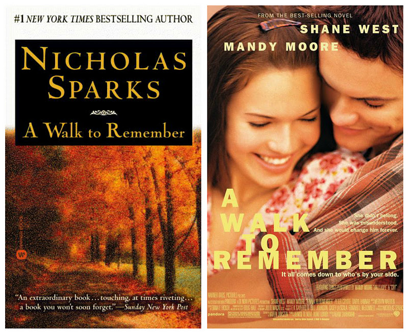 a walk to remember book vs movie essay