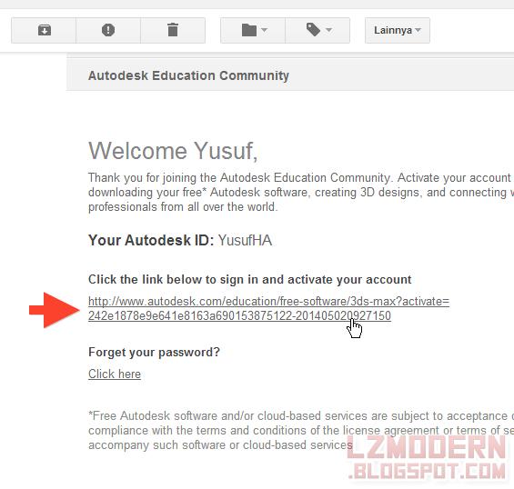 Buka Email untuk aktivasi