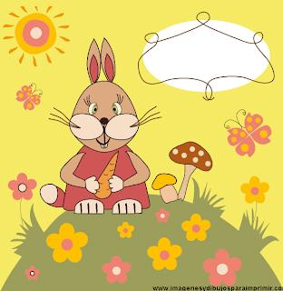conejo infantil para felicitar cumpleaños