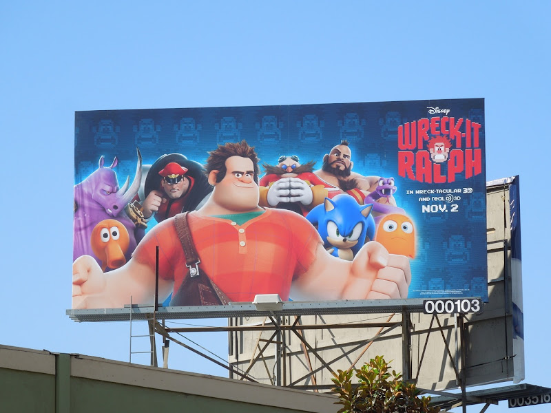 Wreck It Ralph movie billboard