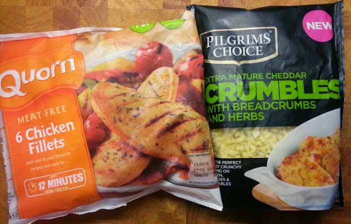 Pilgrims Choice Crumbles Review used as a topping for Quorn fillets