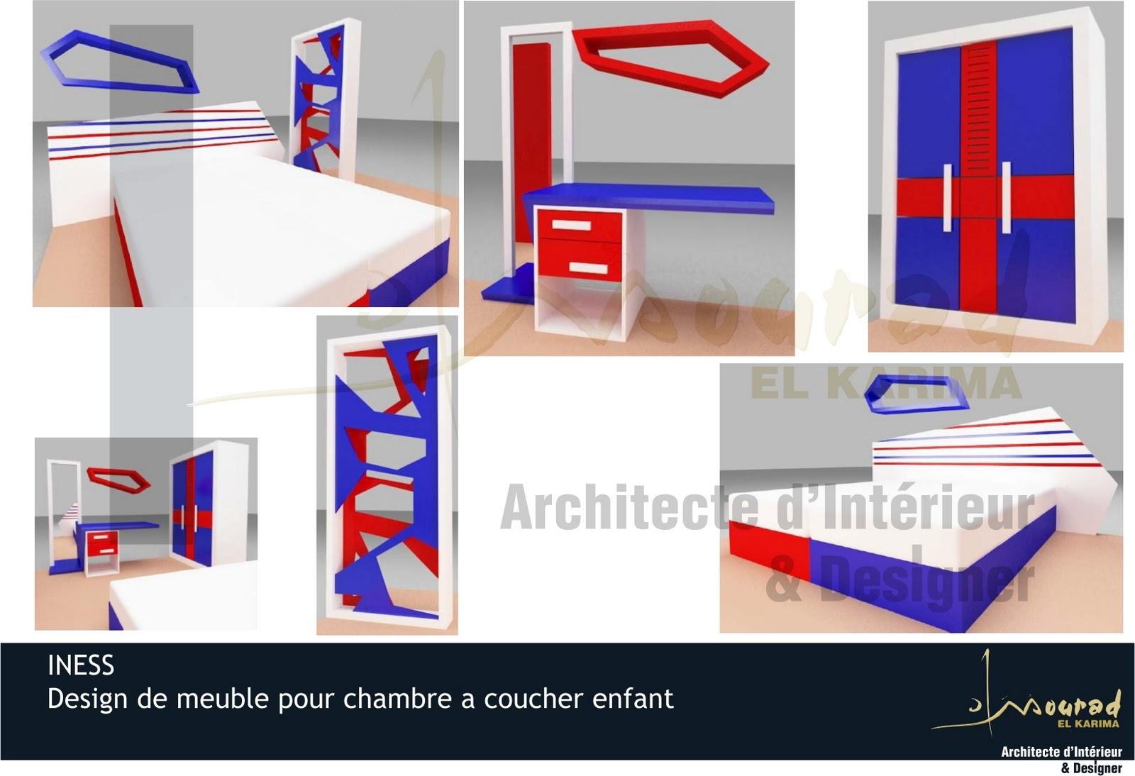 Iness design de meuble pour chambre a coucher enfant for Design interieur chambre a coucher