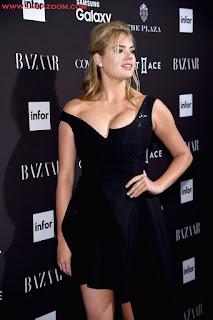 المثيرة كيت ابتون في مدينة نيويورك بثوب يظهر صدرها الكبير و أرجلها الناعمة 2015
