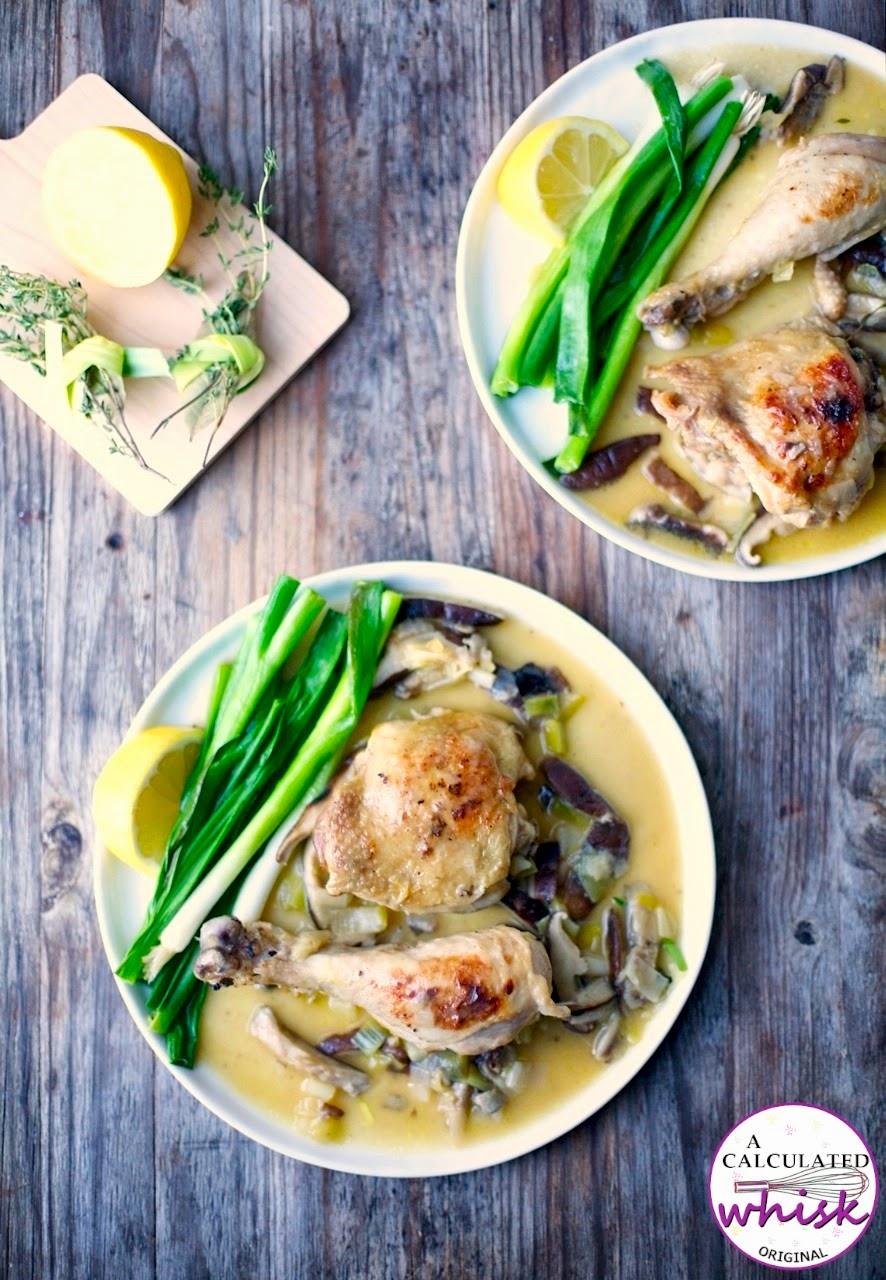 Braised Chicken with Leeks & Scallions | acalculatedwhisk.com #paleo #glutenfree #grainfree #whole30