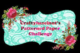 Craftyhazlenut's Patterned Paper Challenge