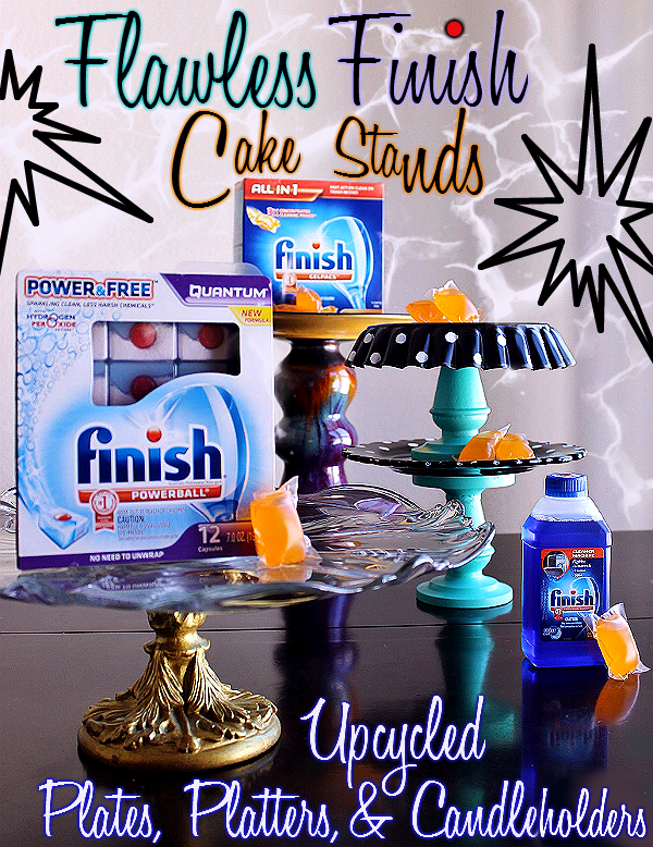 Create Upcycled Cake And Cupcake Displays With Thrift Store Plates And Candleholders! #SparklySavings #Shop #cbias