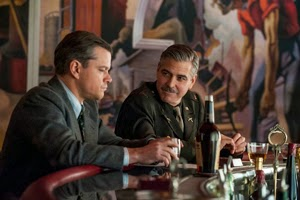 Matt Damon y George Clooney en Monuments Men