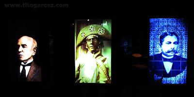 Personalidades que podem ser vistas no espaço Nossos Cabras, no Museu da Gente Sergipana, em Aracaju - Sergipe