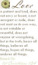1st Corinthians 13:4