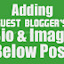 Simple Guest Blogger Profile Widget for Blogger Blog