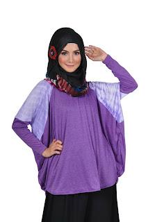 Baju Muslim Modern Batwing Shoulder Tie Dye