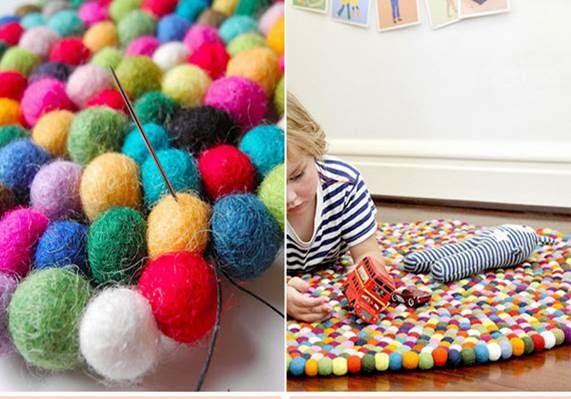Small low cost 5 ideas para confeccionar alfombras - Telas para alfombras ...