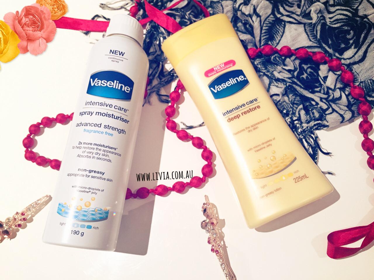 L I V A Winter Essentials Include The Vaseline Range Feat Their Advance Strength 400 Ml New Intensive Care Spray Moisturiser Deep Restore Cream Revew