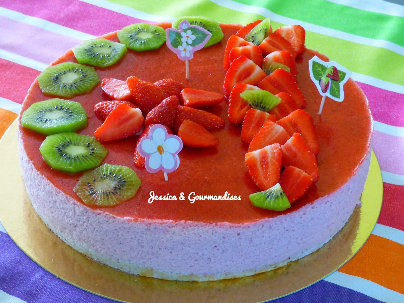 Jessica gourmandises bavarois aux fraises g noise for Miroir aux fraises
