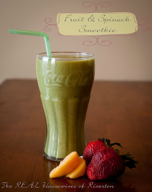 Fruit and Spinach Smoothie from The Housewives of Riverton