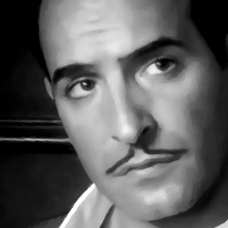 Jean dujardin in the film the artist michel hazanavicius for Film jean dujardin